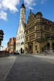 Vecchie costruzioni in Rothenburg, Germania Fotografie Stock