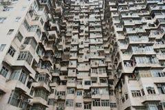 Vecchie costruzioni situate in Hong Kong Fotografia Stock Libera da Diritti