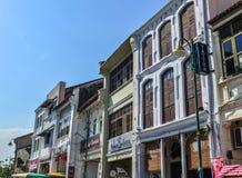 Vecchie costruzioni situate a Penang, Malesia immagine stock libera da diritti
