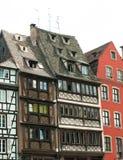 Vecchie costruzioni storiche a Strasburgo, Francia. Immagine Stock