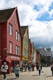 Vecchie costruzioni tradizionali a Bergen Immagini Stock Libere da Diritti