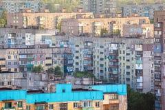 Vecchie costruzioni in Ucraina Vecchio alloggio ammucchiato Fotografia Stock Libera da Diritti