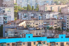 Vecchie costruzioni in Ucraina Vecchio alloggio ammucchiato Immagini Stock Libere da Diritti
