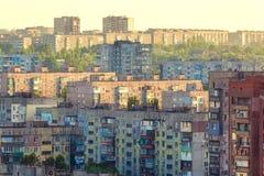 Vecchie costruzioni in Ucraina Vecchio alloggio ammucchiato Immagine Stock Libera da Diritti