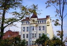 Vecchie costruzioni in Vyborg, Russia Fotografia Stock