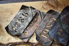 Vecchie etichette del whiskey Fotografia Stock Libera da Diritti
