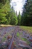 Vecchie ferrovie a scartamento ridotto Immagini Stock