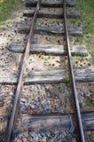 Vecchie ferrovie a scartamento ridotto Immagini Stock Libere da Diritti