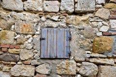 Vecchie finestra e parete Fotografia Stock