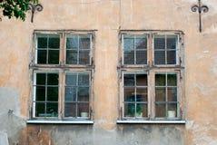Vecchie finestre Immagini Stock