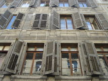 Vecchie finestre Immagine Stock Libera da Diritti