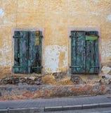 Vecchie finestre arrugginite Fotografia Stock Libera da Diritti
