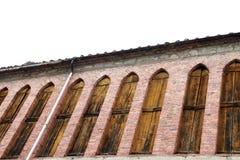 Vecchie finestre di industria Immagine Stock