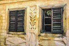 Vecchie finestre di legno Fotografia Stock