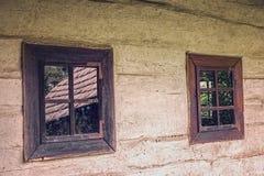 Vecchie finestre di legno Immagine Stock