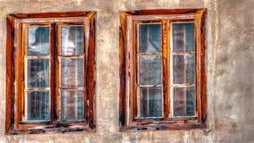 Vecchie finestre di legno Immagini Stock