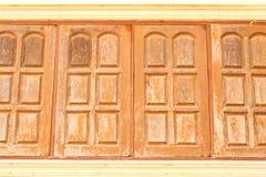 Vecchie finestre di legno fotografie stock libere da diritti