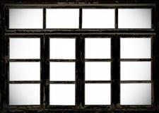 Vecchie finestre di legno del grunge del granaio Immagini Stock Libere da Diritti