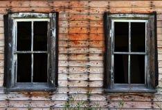 Vecchie finestre rotte Fotografie Stock