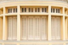 Vecchie finestre tailandesi di stile Fotografia Stock Libera da Diritti