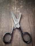 Vecchie forbici tagliate Fotografia Stock