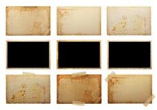 Vecchie foto in bianco Fotografie Stock
