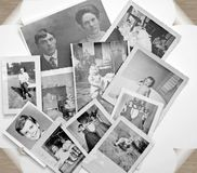 Vecchie foto in in bianco e nero Immagine Stock