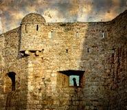 Vecchie foto con la fortezza di vecchia città di Budua, Montenegro 1 Fotografia Stock Libera da Diritti