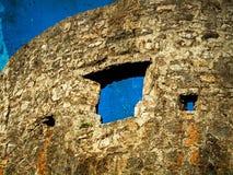 Vecchie foto con la fortezza di vecchia città di Budua, Montenegro Fotografie Stock