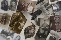 Vecchie foto d'annata Fotografia Stock Libera da Diritti