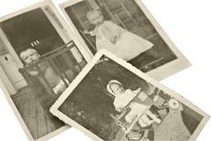 Vecchie foto del bambino Fotografia Stock