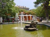 Vecchie foto della città di Bacu fotografia stock