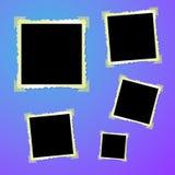 Vecchie foto dello spazio in bianco dell'annata Immagine Stock