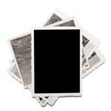 Vecchie foto su bianco Fotografia Stock