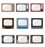 Vecchie icone della televisione Fotografia Stock
