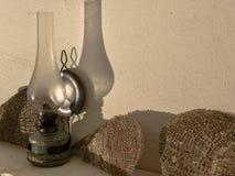 Vecchie lampada e coperture Fotografia Stock