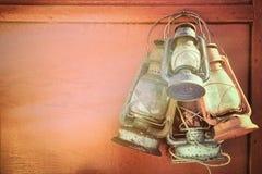 Vecchie lanterne di cherosene Immagini Stock Libere da Diritti