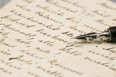 Vecchie lettere fotografia stock libera da diritti