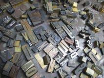 Vecchie lettere composte Immagini Stock