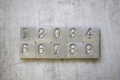 123 vecchie lettere d'annata Immagini Stock Libere da Diritti