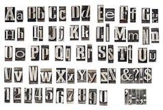 vecchie lettere del metallo immagini stock libere da diritti
