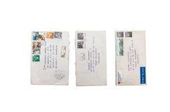 Vecchie lettere rumene Fotografie Stock