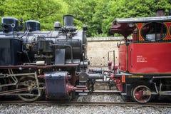 Vecchie locomotive a vapore Immagini Stock