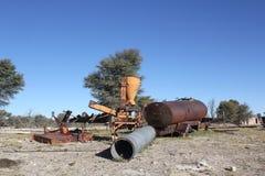 Vecchie macchine arrugginite Fotografia Stock