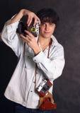 Vecchie macchine fotografiche Immagine Stock