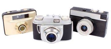 Vecchie macchine fotografiche Fotografie Stock Libere da Diritti