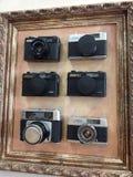 Vecchie macchine fotografiche Fotografia Stock Libera da Diritti