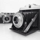 Vecchie macchine fotografiche Immagini Stock Libere da Diritti