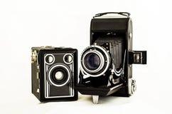 Vecchie macchine fotografiche immagini stock