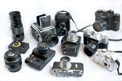 Vecchie macchine fotografiche Fotografie Stock
